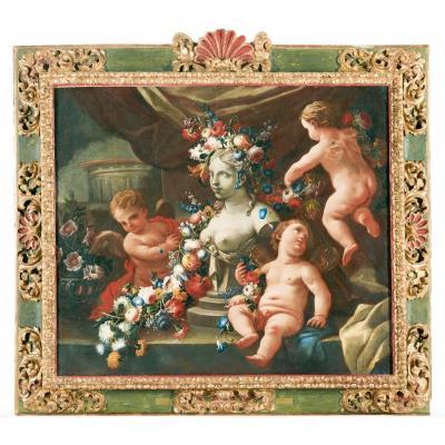 Nicola Vaccaro Et Andrea Belvedere, Allégorie De La Sculpture, Attribution De Nicola Spinosa