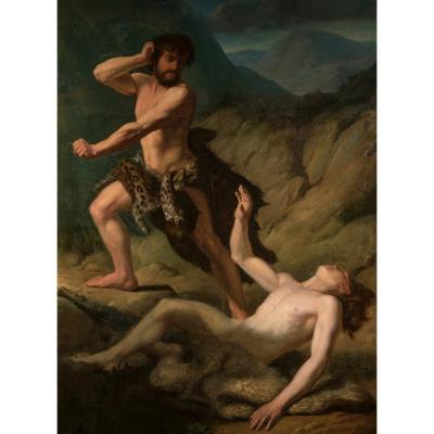 Antoine Bourlard (mons, 1826 - Mons, 1899), Cain And Abel