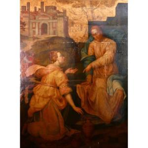 Giovanni Maria Butteri (firenze, 1540 Circa - Firenze, 1606), Christ And The Samaritan Woman
