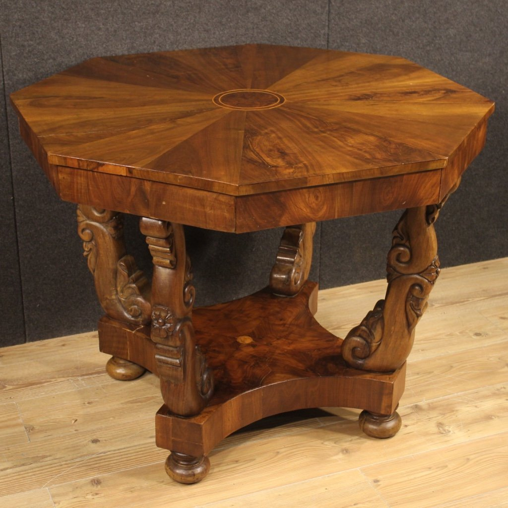 Italian Living Room Table In Inlaid Wood