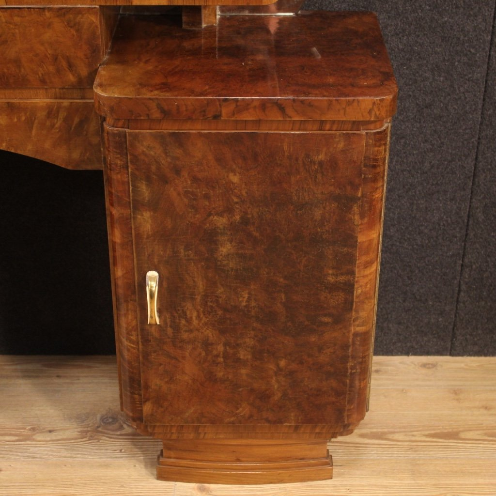 Italian Dressing Table In Walnut And Burl Woods-photo-1