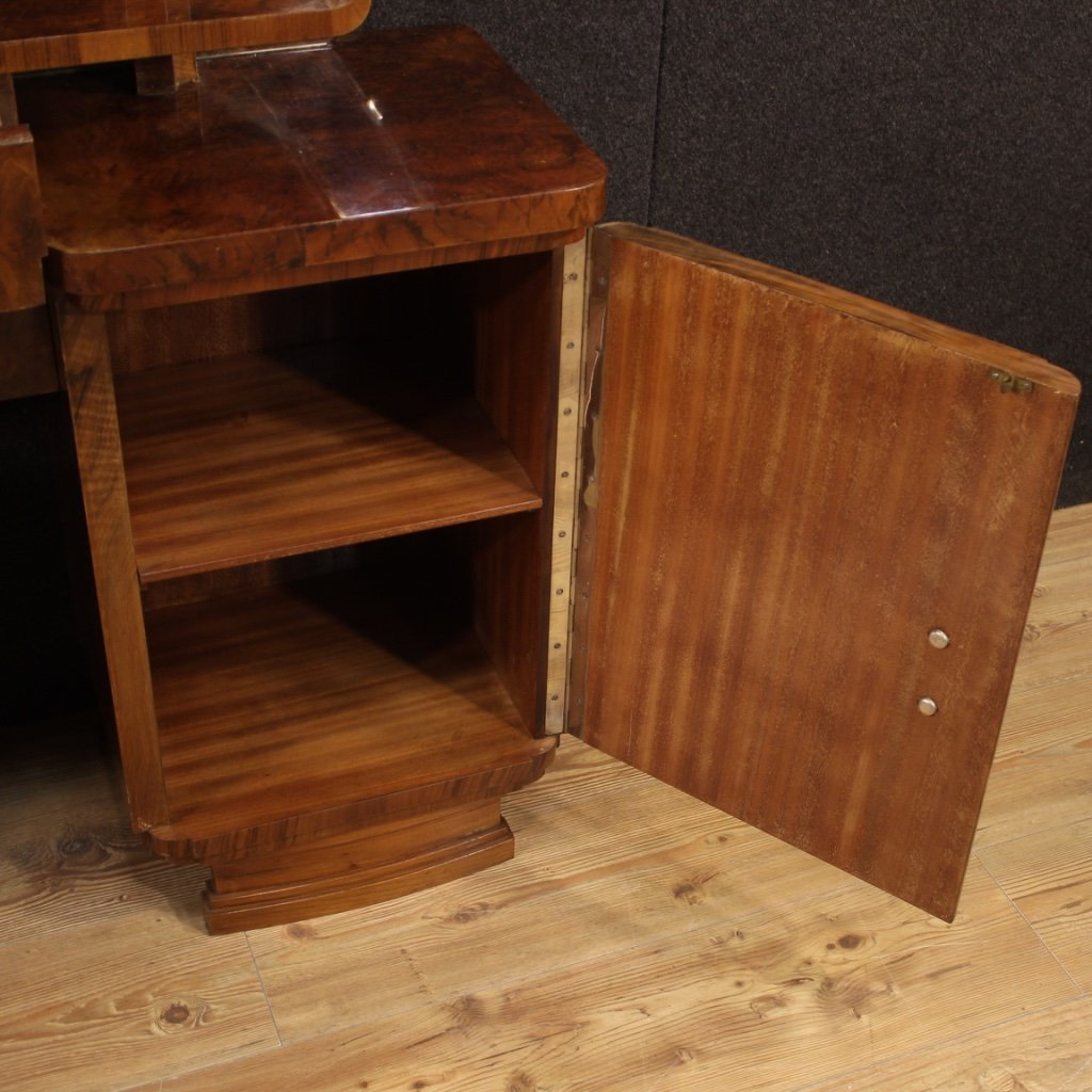 Italian Dressing Table In Walnut And Burl Woods-photo-5