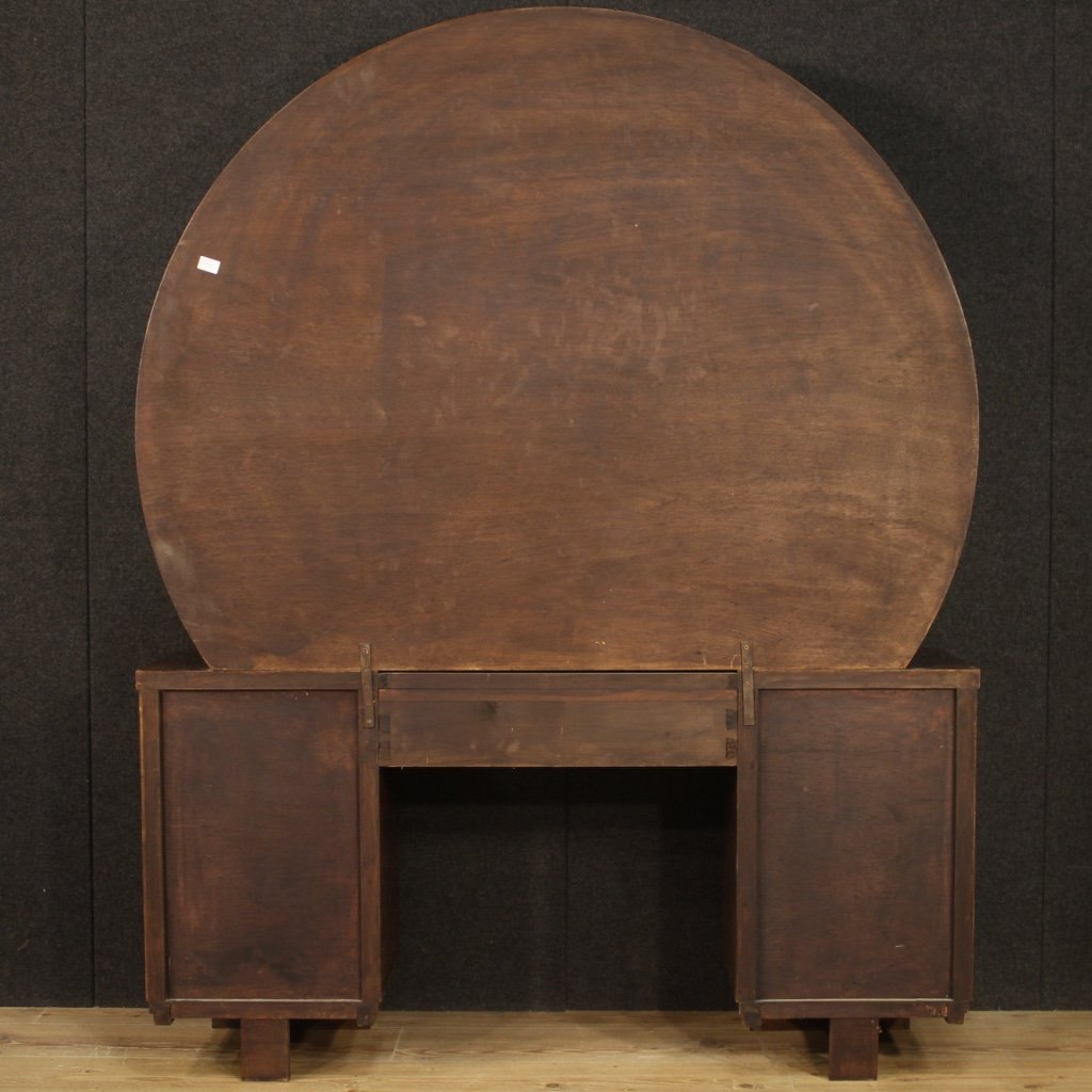 Italian Dressing Table In Walnut And Burl Woods-photo-7