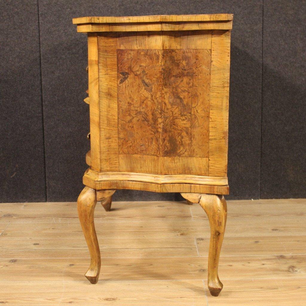 Venetian Dresser In Walnut, Elm Burl And Beech-photo-3