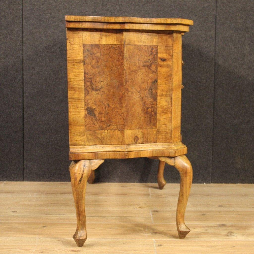 Venetian Dresser In Walnut, Elm Burl And Beech-photo-5