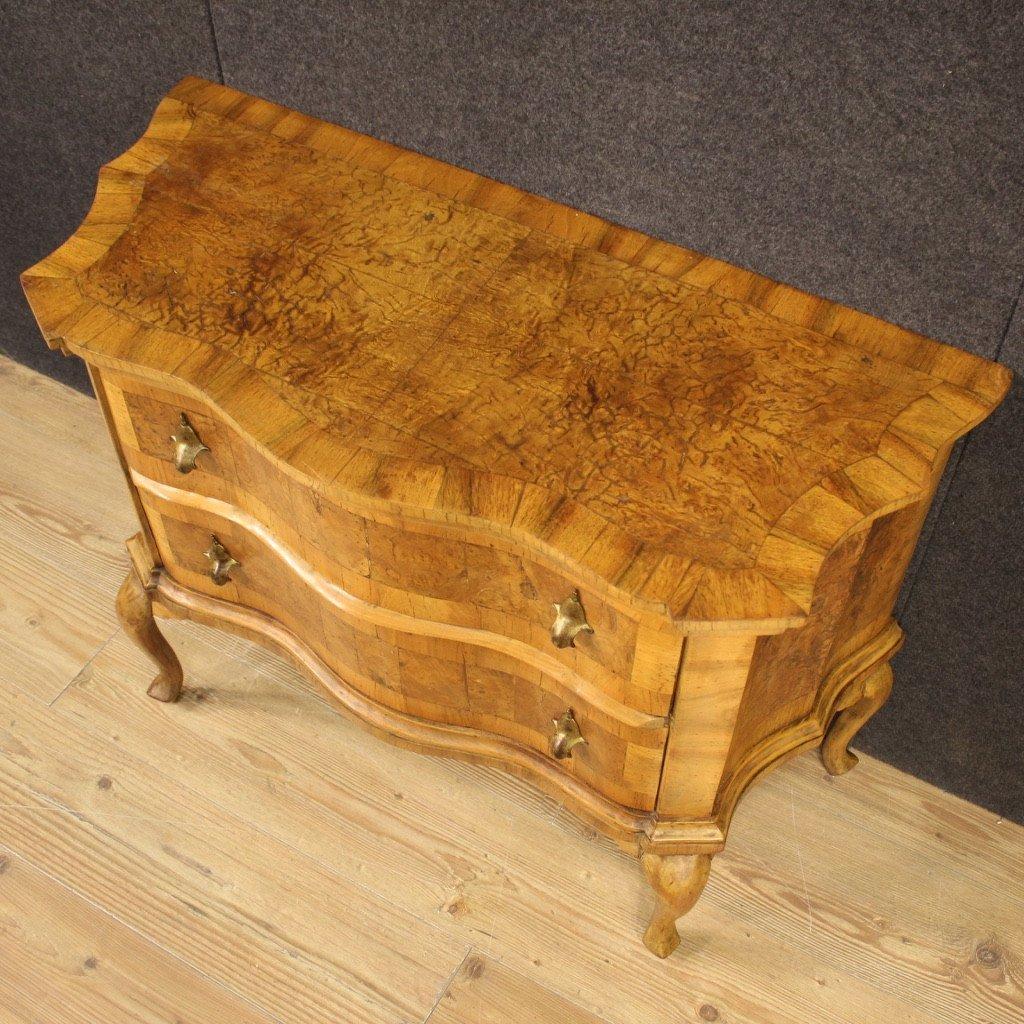 Venetian Dresser In Walnut, Elm Burl And Beech-photo-6
