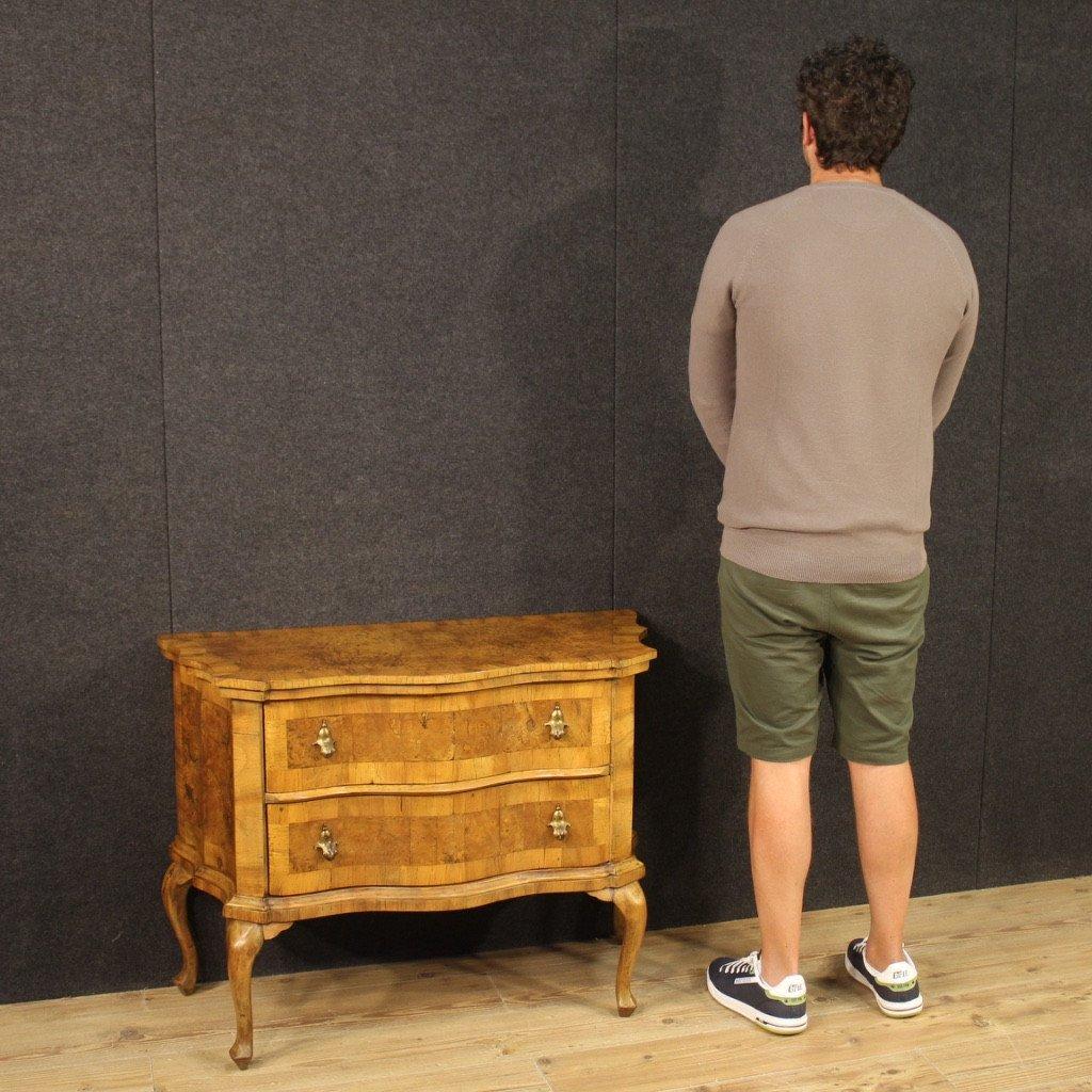 Venetian Dresser In Walnut, Elm Burl And Beech-photo-7