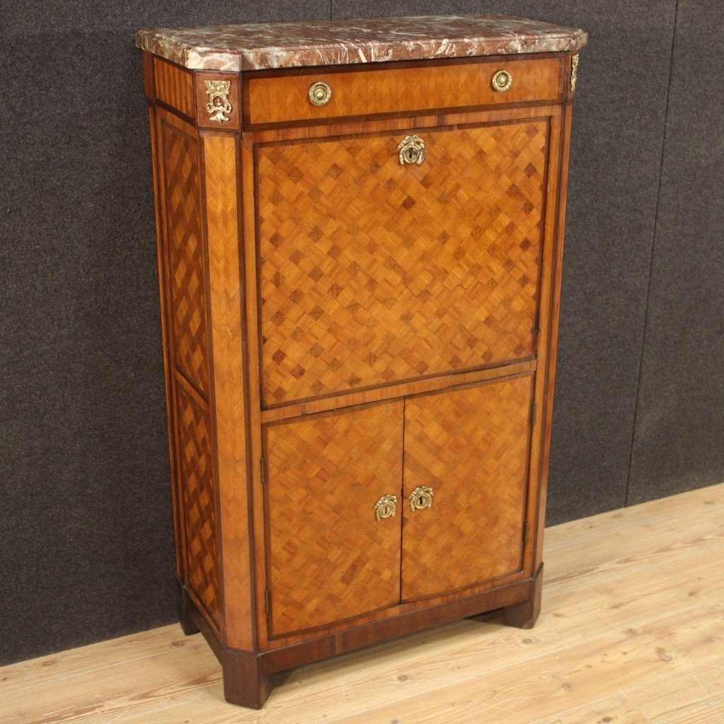 Antique French Secrétaire In Wood From 19th Century