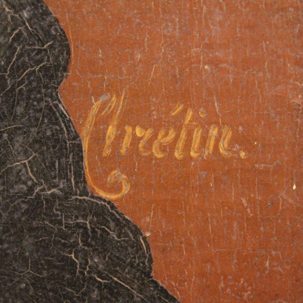 Portrait De Saint Vincent de Paul Tableau De La Seconde Moitié Du 19ème Siècle-photo-3
