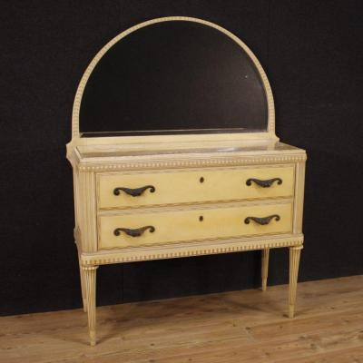 Italian Dresser With Mirror In Lacquered Wood
