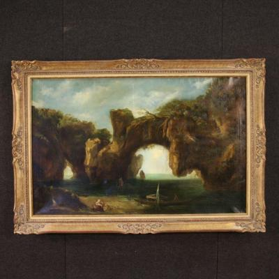 Italian Seascape Painting From 19th Century