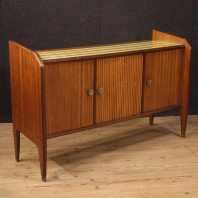 Italian Design Sideboard In Palisander, Mahogany, Maple, Beech And Fruitwood