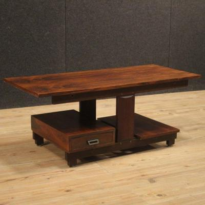 Italian Design Coffee Table In Palisander And Mahogany