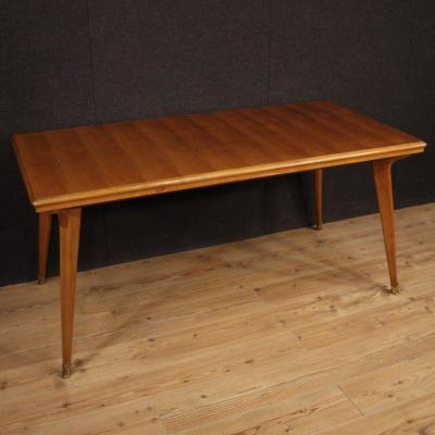 Italian Design Table In Cherry And Fruitwood