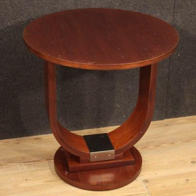 Italian Design Coffee Table In Mahogany And Fruitwood