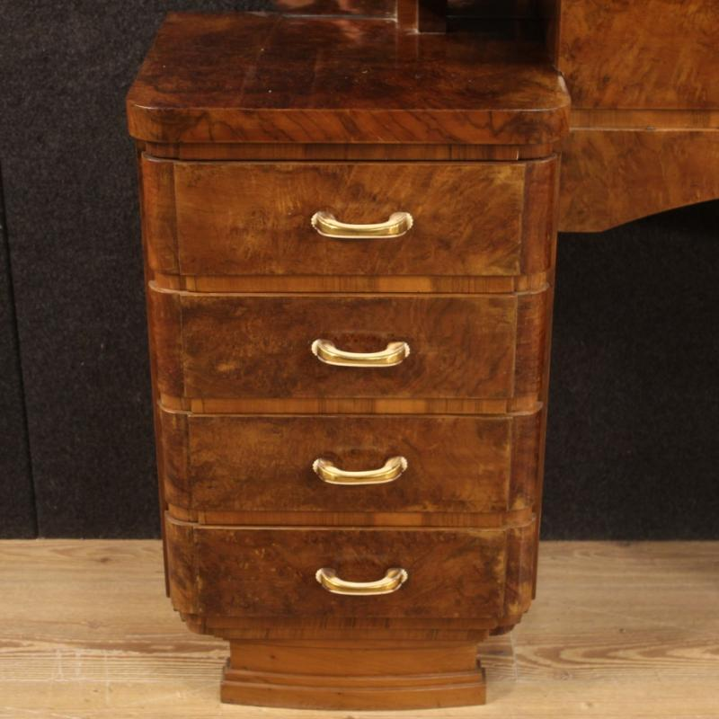 Italian Dressing Table In Walnut And Burl Woods-photo-4