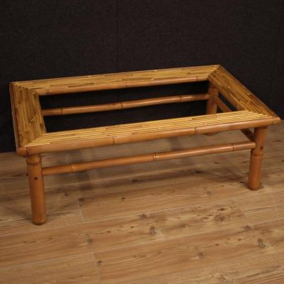 Italian Design Coffee Table In Bamboo And Exotic Wood