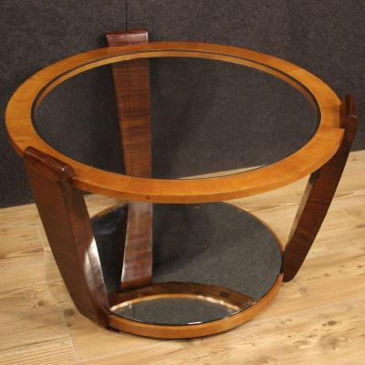 Italian Design Coffee Table In Palisander And Cherry