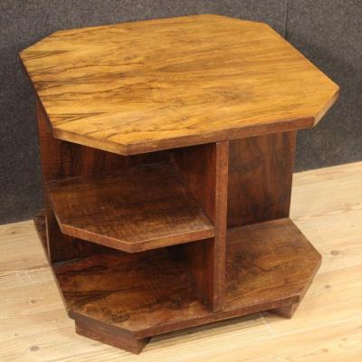 Italian Design Coffee Table In Walnut Wood