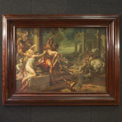 Italian Painting The Rape Of The Sabines Dated 1938