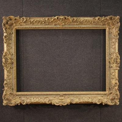 French Gilded Frame In Wood And Plaster