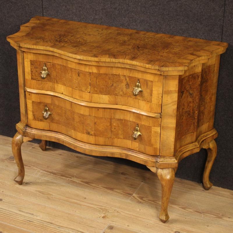 Venetian Dresser In Walnut, Elm Burl And Beech-photo-4