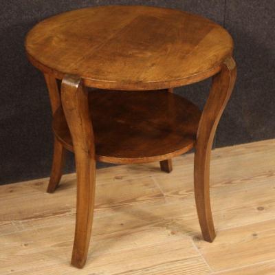 Italian Design Coffee Table In Walnut And Beech