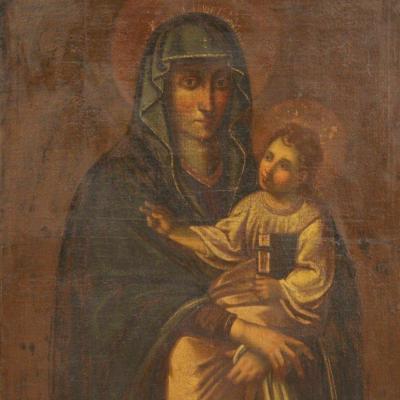 Antique Vierge Avec l'Enfant Du 17ème Siècle