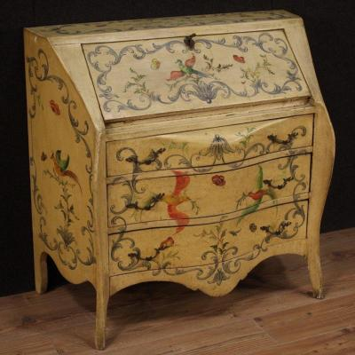 Elegant Lacquered Bureau From The 20th Century