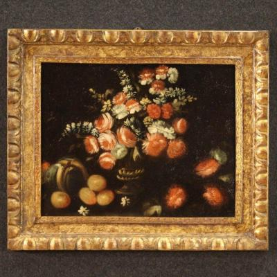 Antique Still Life Painting From The 18th Century