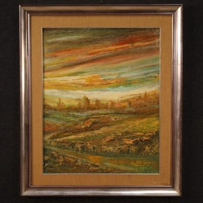 Large Landscape Signed And Dated 1975