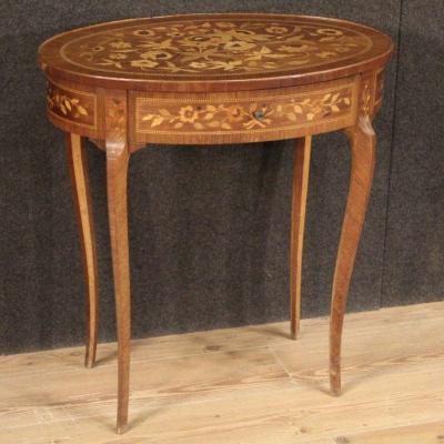 Elegant Inlaid Side Table For Living Room
