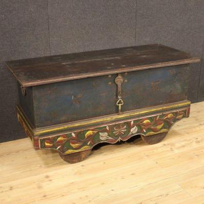 Indian Chest In Painted Wood