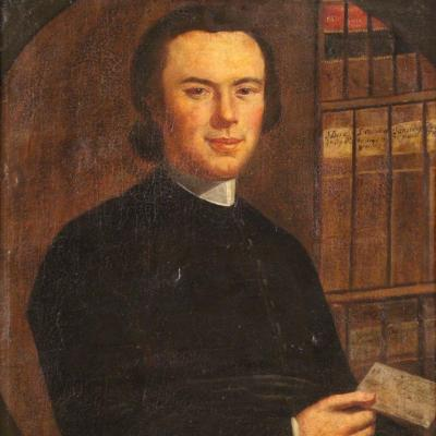 Portrait Of A Clergyman From The 18th Century