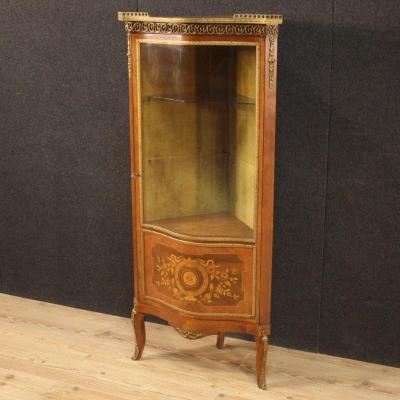 French Corner Cabinet In Inlaid Wood