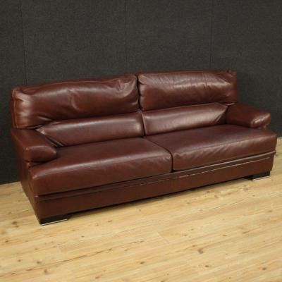 Large Leather Sofa From The 80's
