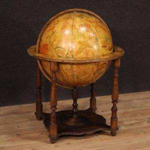 Globe In Wood From 70s