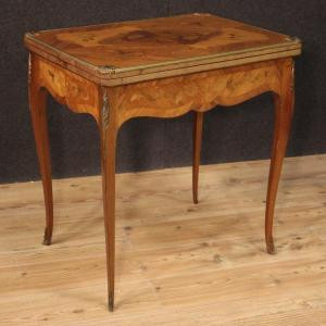 French Game Table In Inlaid Wood