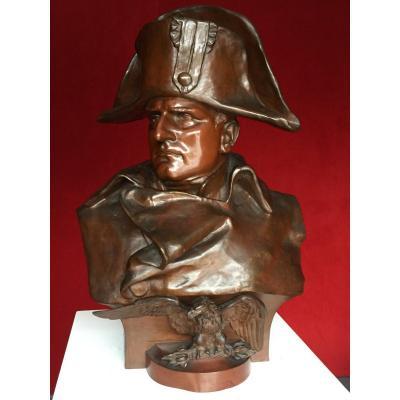 Important Buste en Bronze de Napoléon Bonaparte Empereur / Empire / Colombo / Napoleon