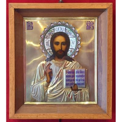 Icône russe  Christ Moscou 1911 / Icone / Russie / Христос первая московсская артелъ / icon / ikone
