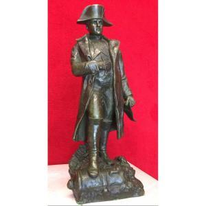 Importante Sculpture En Bronze De Napoléon Bonaparte, Signée Ruffony,  Début 20e