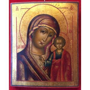 Grande Icône Russe de la Vierge de Kazan, 18e / Russie Orthodoxe / Icon Marie / Notre Dame