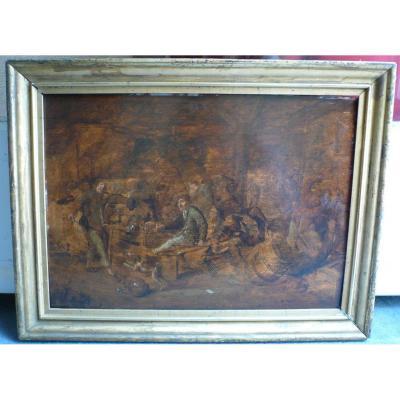 Peinture Flamande XVIIe Signee Jan Miense Molenaer Encadree