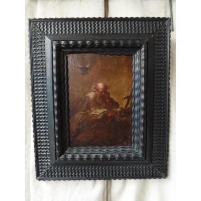 Peinture XVIII eme Siècle Date Saint Jerome Lisant