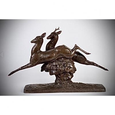 Bronze ART DECO  D ANDRE VINCENT BECQUEREL