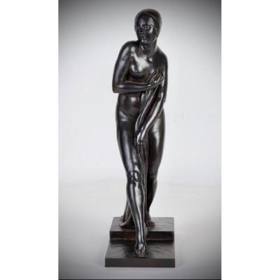 Sculpture ART DECO En Bronze Georges Chauvel