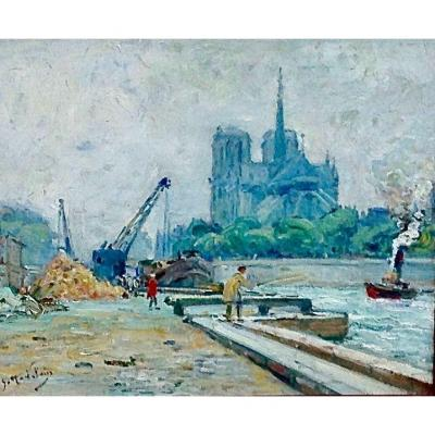 Gustave Madelain ( 1867/1944) Huile Sur Toile