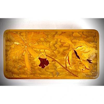 Emile Galle Boite A Friandises Art Nouveau Marqueterie