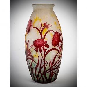 Vase De Muller A Decor D Oeillets
