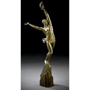 """""""  VICTOIRE """" BRONZE de  PIERRE  LE FAGUAYS ( 1892/1962)"""